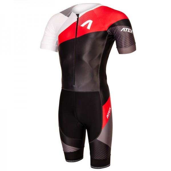 Triatlonová kombinéza s krátkymi rukávmi REVOLT RED