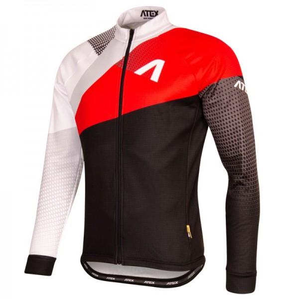 Cyklistický dres s dlhými rukávmi REVOLT RED