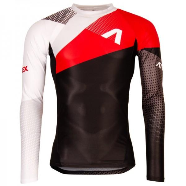 Priliehavý atletický dres s dlhými rukávmi REVOLT RED