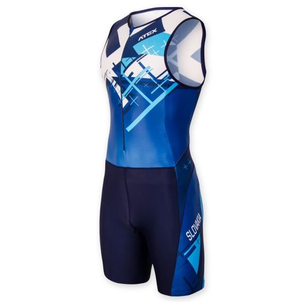 Triatlonová kombinéza CROSS BLUE s predným zipsom