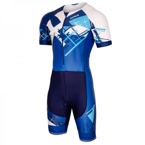 Triatlonová kombinéza CROSS BLUE s krátkymi rukávmi