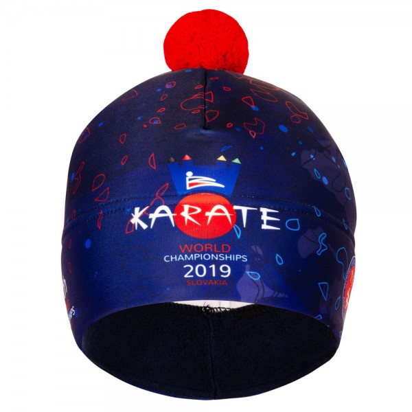 Športová dvojvrstvová čiapka/Two-layer cap Karate WCH 2019 SLOVAKIA